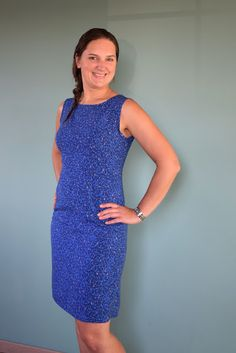Molemieke's naaiblog: See you at six # The perfect dress for me - Strokes Blue