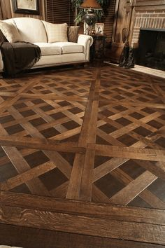 check out this unique wood floor pattern try for yourself and let us know how