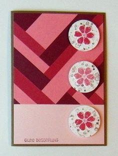 Stampin' Up! ... handmad card from Eri's Creative Workshop: patchwork herringbone in red tones ...