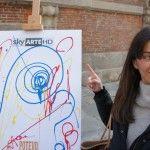 """Sky Arte HD a #Brera e #Venezia Bello vedere come questa """"talentuosa"""" ragazza ama dipingere su #CL-19 #cavalletto a lira Easels_CAPPELLETTO"""