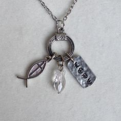 Agape Love Swarovski Crystal Fish Talisman, One of a Kind....offer expires 3/31/15 only $19.95