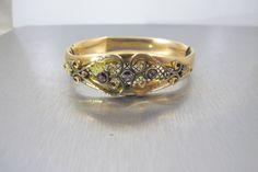 Victorian Bangle Bracelet Gold Filled by TonettesTreasures on Etsy