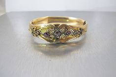 Victorian Bangle Bracelet Gold Filled by TonettesTreasures on Etsy