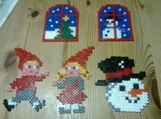 Christmas items hama perler beads by Susanne Damgård Sørensen Fuse Beads, Pearler Beads, Christmas Items, Christmas Crafts, Pixel Art, Hama Beads Christmas, Melting Beads, Bead Kits, Perler Patterns