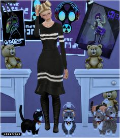 Sims 4 CC's - The Best: Decoration children kids (Teddy,cats,mouse) by Jen...