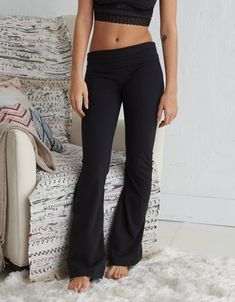 0bfa8328f29b59 Aerie Chill High Waisted Flare Pant