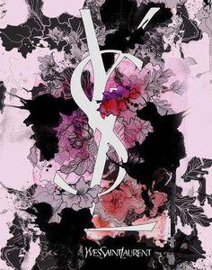 YvesSaintLaurent Flowering Artwork