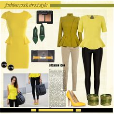 """yellow!"" by bcreative on Polyvore"