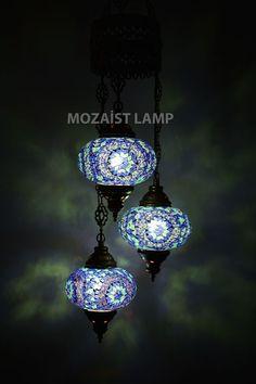 mosaic Chandelier,turkish mosaic lantern ,turkish candle holder,arabian…