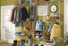 Custom Made: for a more in depth look at the variety of ways the Rubbermaid wardrobe can be arranged, be sure to visit the Rubbermaid Configurations microsite.