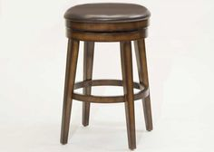 "Linens -n- Things: Hillsdale House Hillsdale Beechland Backless Swivel Counter Stool Rustic Oak 26.5""  $159.00"