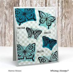 I'm back today with yes 3 cards, using some brand new products that just hit the store today from Whimsy Stamps . Butterfly Outline, Butterfly Images, Butterfly Cards, Butterfly Design, Handmade Card Making, Whimsy Stamps, Friendship Cards, My Stamp, Clear Stamps