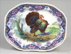 Copeland Late Spode, England, late 19th century Turkey Platter, 16 1/4 x 20 1/2 in.