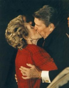 Former president Ronald Regan and his wife