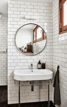 vasque de salle de bain, salle de bain scandinave