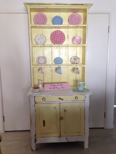 Yellow And White Kitchen Hutch  Shabby Chc Pieces I Have Delectable White Kitchen Hutch Review