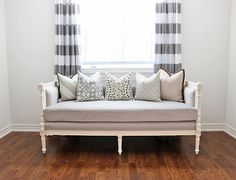 AM Dolce Vita: Swedish Settee Reproduction, Anne Quinn Furniture, nursery daybed, antique settee