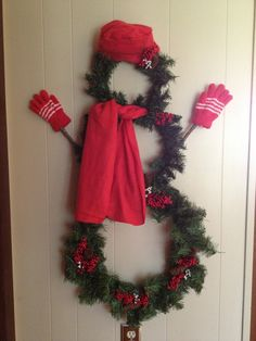 Snowman Wreath...Very easy to make.