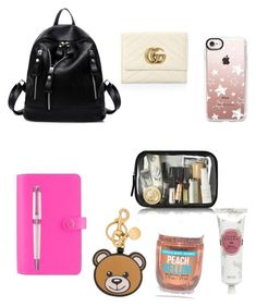 """#whatsinmybackbag"" by simonagc84 on Polyvore featuring Montegrappa, Gucci, Moschino, Tocca, Bellini and Casetify"