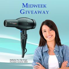 For this week's Midweek Giveaway, one lucky winner will get a FREE BaByliss Pro Hair Dryer Porcelain Ceramic 2800. Valued at $65. Click here for more details.