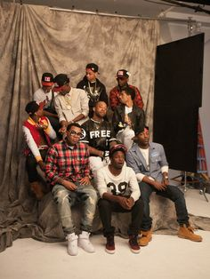 10 of this year's 12 Freshmen. Back row (all left to right): Chance the Rapper, Lil Bibby and Jarren Benton. Middle row: Lil Durk, Rich Homi...
