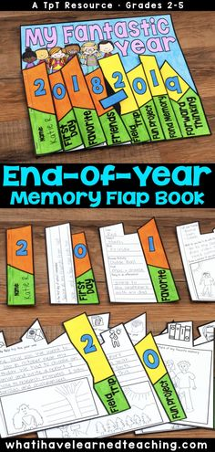 This End-of-the-Year Memory Book is perfect for the last weeks of the school year. A fun memory book craftivity to use in your classroom. Classroom Fun, Classroom Activities, Future Classroom, End Of Year Activities, End Of School Year, Thinking Day, Classroom Community, Memory Books, Third Grade
