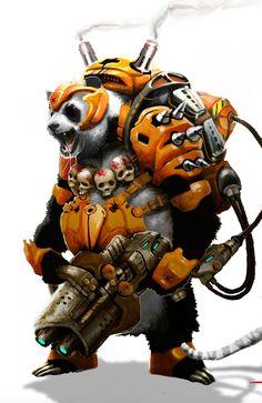 Armored Panda by Kelton Cram OK. So now I need to find an anthropomorphized Panda Bear...
