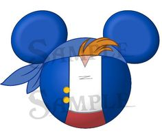 Cubby from Jake and the Neverland Pirates character inspired DIGITAL printable Mickey head file DIY