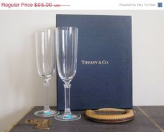Tiffany / Tiffany and Co / Champagne Flutes by TheThriftingMagpie, $76.00