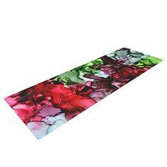 Kess InHouse EBI Emporium Lagoon Love Lavender Green Round Beach Towel Blanket