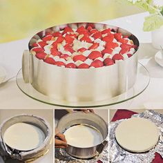Retractable Stainless Steel Circle Mousse Ring Baking Dishes
