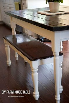 DIY farmhouse kitchen table by Dabney K Holmes