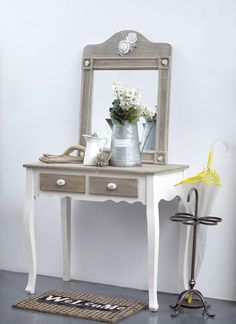 VICKO Look Vintage, Home Look, Entryway Tables, Romantic, House Design, Make It Yourself, Furniture, Home Decor, Ideas