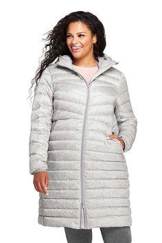 1543dbf8e69be Women s Plus Size Ultralight Packable Long Down Coat. Plus Size CoatsLong  ...
