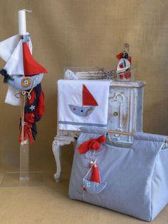 Sail boat themed baptism candle lampada set from Greece. Baptism Candle, Orthodox Wedding, Greek Wedding, Baptism Invitations, Christening Gifts, Candle Set, Wedding Favors, Boy Or Girl, Sailing