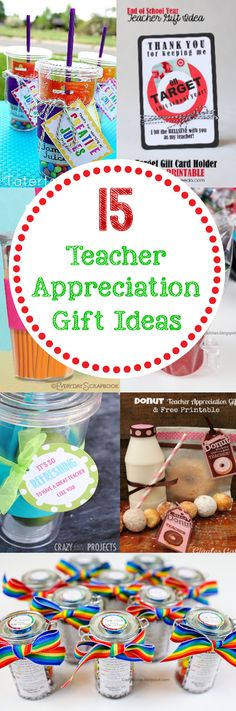 Teacher Appreciation Ideas-Gifts, Doors, Themes & More 15 Teacher Appreciation Gift Ideas Volunteer Appreciation, Teacher Appreciation Week, Volunteer Gifts, Teacher Treats, Teacher Gifts, Ms Teacher, Craft Gifts, Diy Gifts, Just In Case