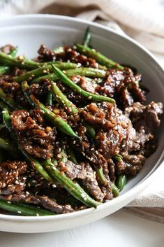 Sesame-Ginger Beef…This is the most flavorful a stir-fry could ever be! Sesame-Ginger Beef…This is the most flavorful a stir-fry could ever be! Beef Steak Recipes, Beef Recipes For Dinner, Beef Meals, Sirloin Recipes, Beef Sirloin, Beef Tenderloin, Chinese Beef Recipes, Beef Welington, Skirt Steak Recipes