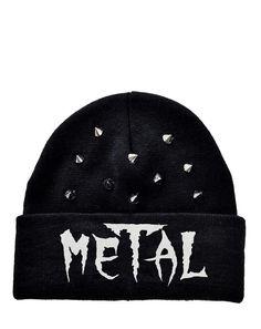 Inked Boutique - Metal Beanie, Hat Studded Studs Punk Rock www.inkedboutique.com