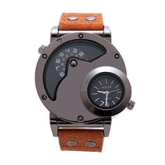 Double Time Zone - Leather Watch - 6 Colors