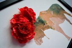 Obrazy - Sobia parta/3D obraz/kvetinové umenie - 7167246_