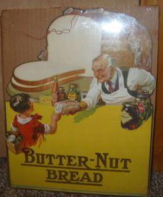 1940s Butternut bread grocery store ad