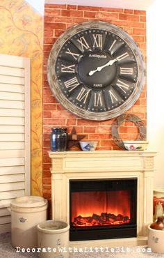 How to DIY a faux fireplace!