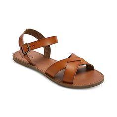 Women's Elke Slide Sandals - Tan ($23) ❤ liked on Polyvore featuring shoes, sandals, tan, merona, merona sandals, slide sandals, tan shoes and merona shoes