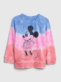 Trendy, cool and affordable toddler boy clothes that you will love. Shop the latest arrivals of toddler boy tops, pants, jeans, and more. Toddler Boy Fashion, Toddler Boy Outfits, Toddler Boys, Kids Fashion, Baby Boys, Baby Disney, Disney Mickey Mouse, Tie Dye Sweatshirt, Graphic Sweatshirt