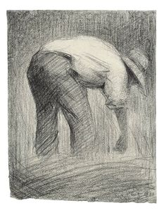 Georges Seurat. Harvester, 1881. Conté crayon on paper.