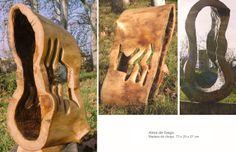 Alma de fuego. Madera de chopo 73 x 29 x 27 cm