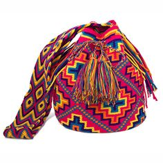 Authentic Wayuu Mochila  Handmade  Tribal by ColombianMadeShop,