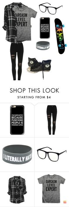 """""""Untitled #49"""" by darksoul7 on Polyvore featuring Casetify, H&M, Rails and Converse"""