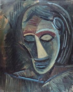 Pablo Picasso, 1908, Woman's Head (Tête de femme) #artwork