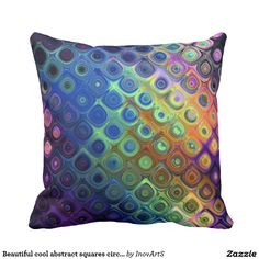 Beautiful cool abstract squares circles glass glow
